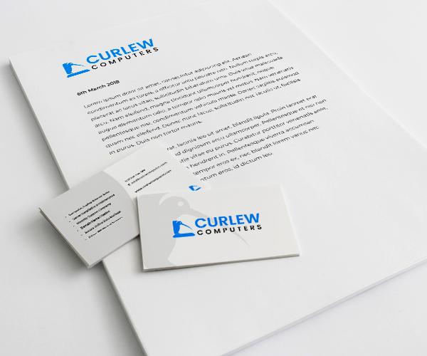 CurlewComputersLetterheadandBusinessCard